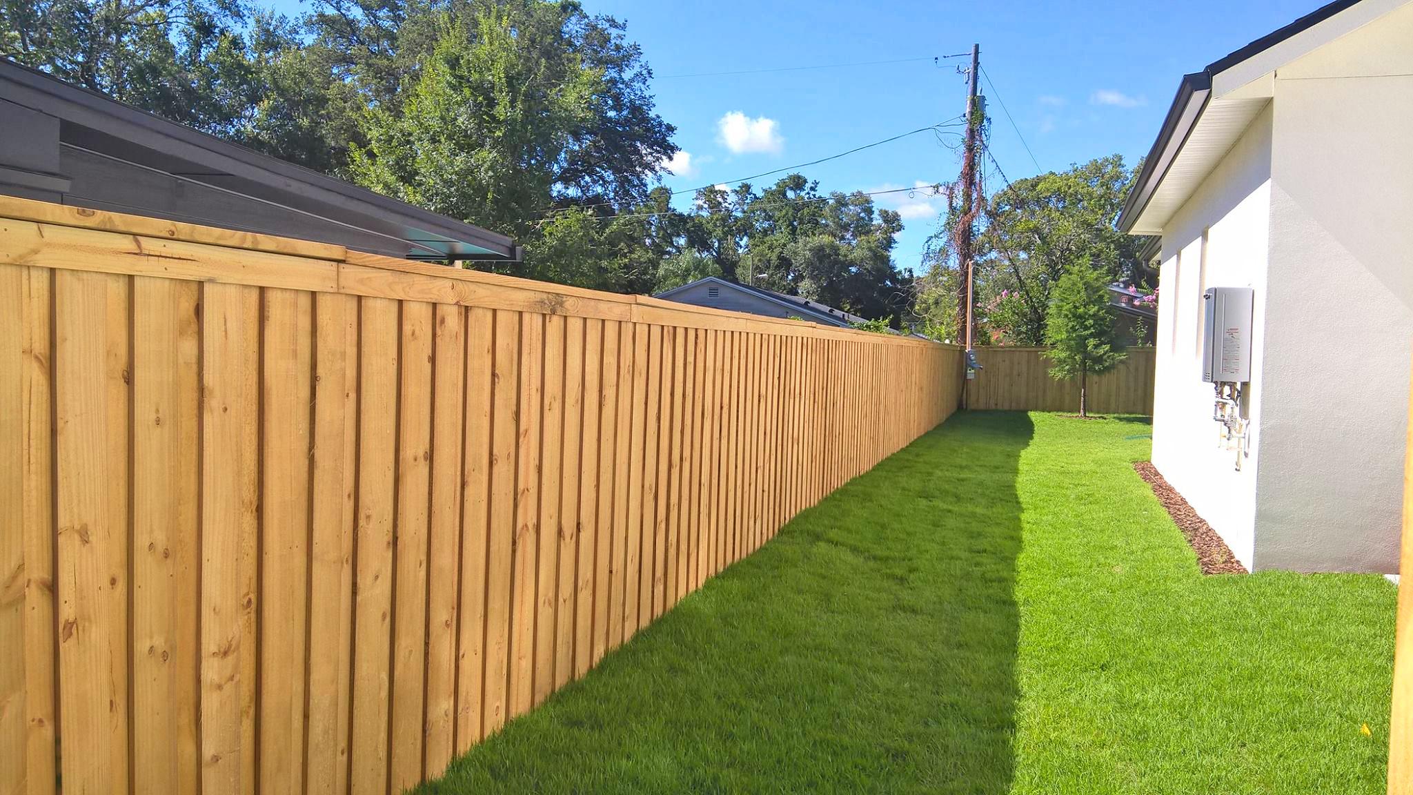 Wooden Fence Installation Winter Park